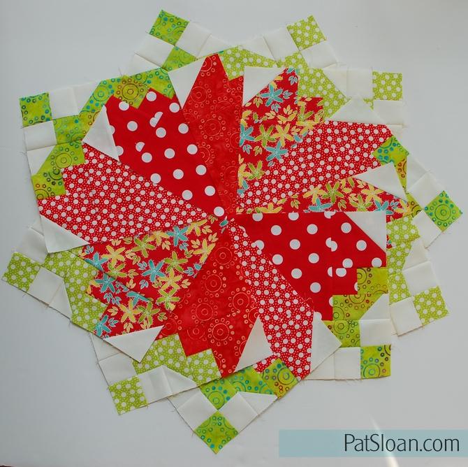 Pat Sloan Strawberry Love blocks twirled