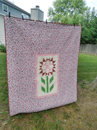 Pat sloan charity backing flower sm