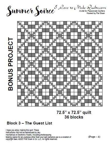 Pat sloan summer soiree block 3 bonus layout