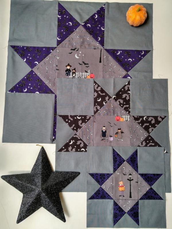 Pat sloan spooky sampler blocks for part 1