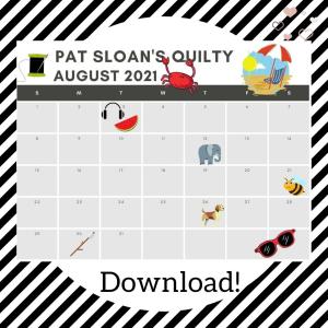 Pat Sloan August 2021 Calendar