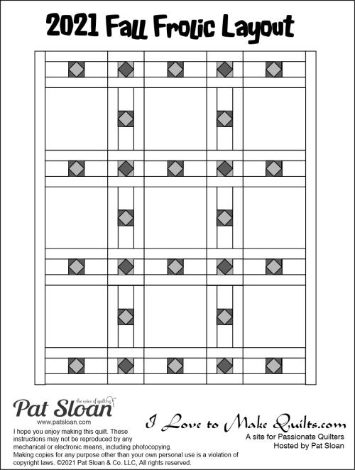 Pat Sloan Fall Frolic quilt layout diagram
